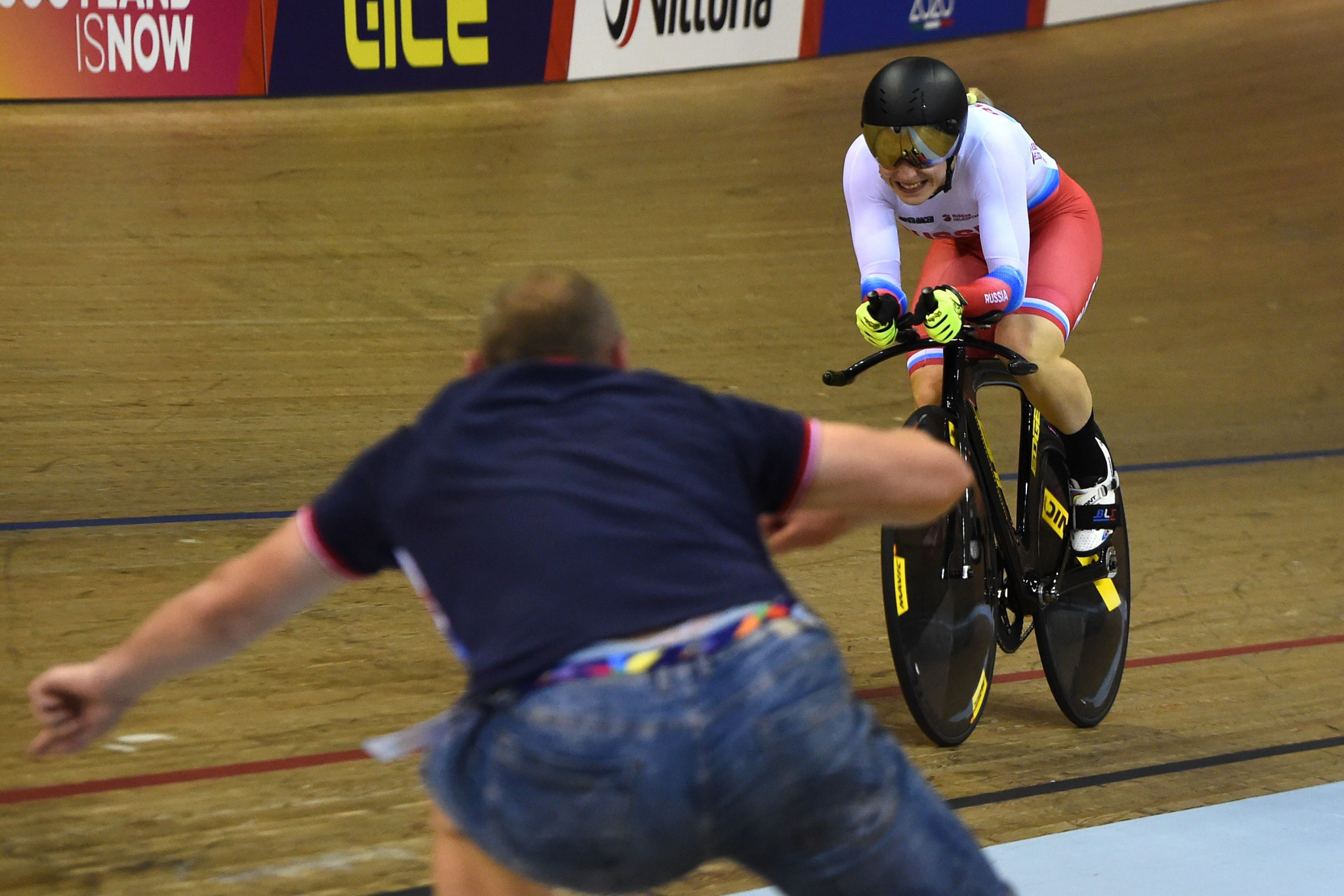 Daria Shmeleva completed a hat-trick of sprint titles by winning the 500m time trial ©Getty Images