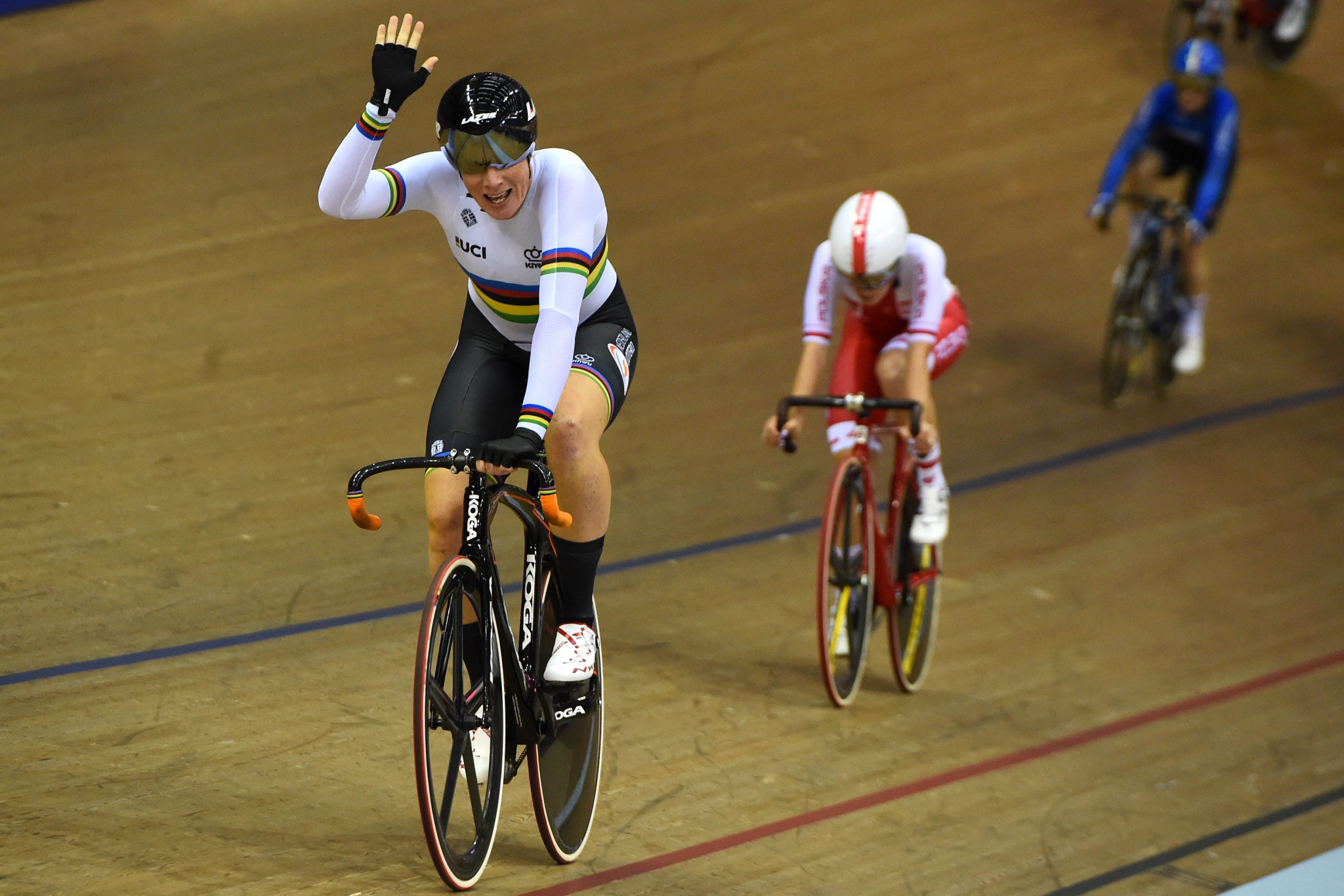 Kirsten Wild triumphed in the women's omnium competition ©Getty Images
