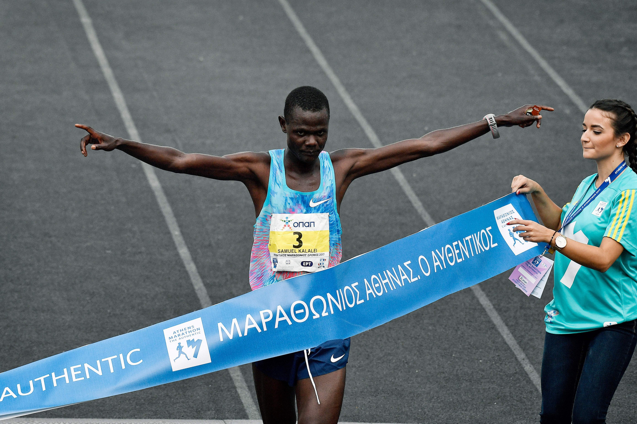 Kenya's Samuel Kalalei has been provisionally suspended for a doping offence ©Getty Images
