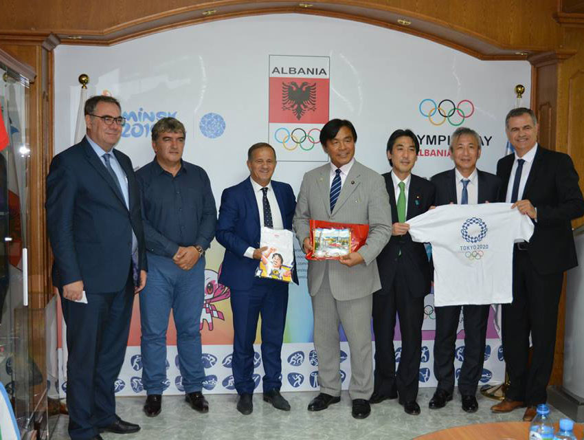 Albanian Olympic Committee welcomes Japanese delegation to headquarters