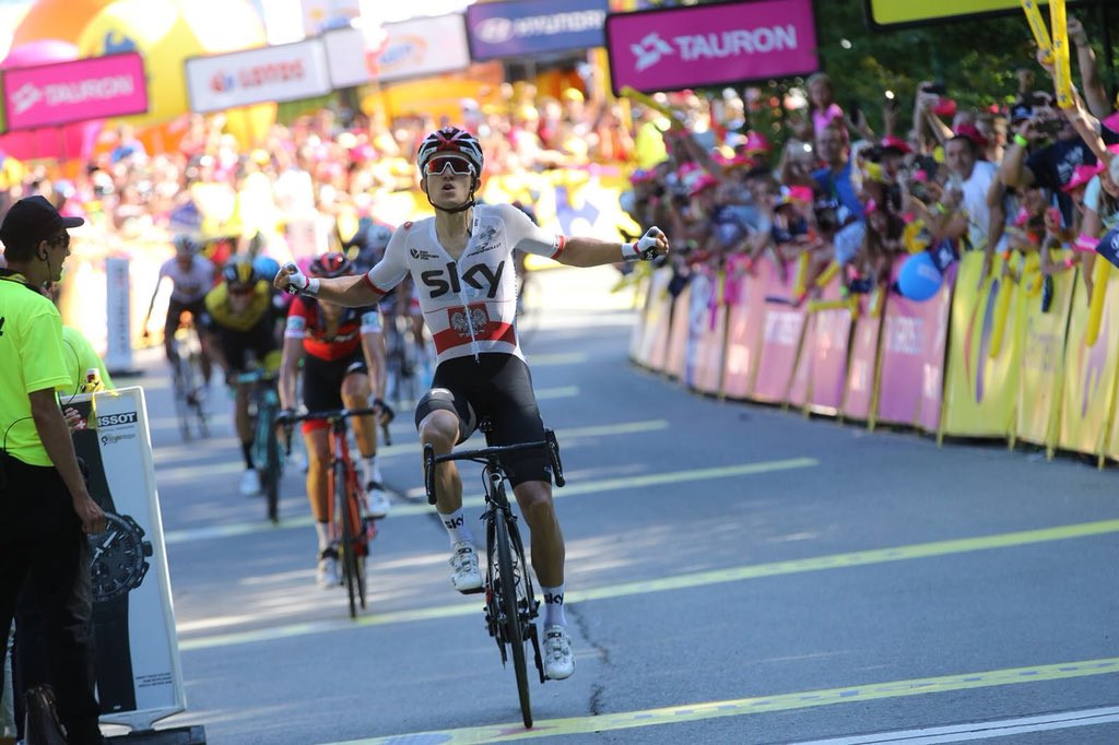 Michal Kwiatkowski won stage four of his home race ©Getty Images