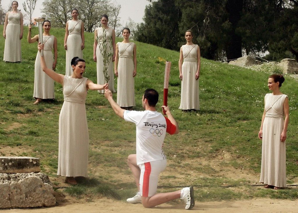 Horss guided the artistic presentation of the flame lighting ceremony in Ancient Olympia for more than 40 years