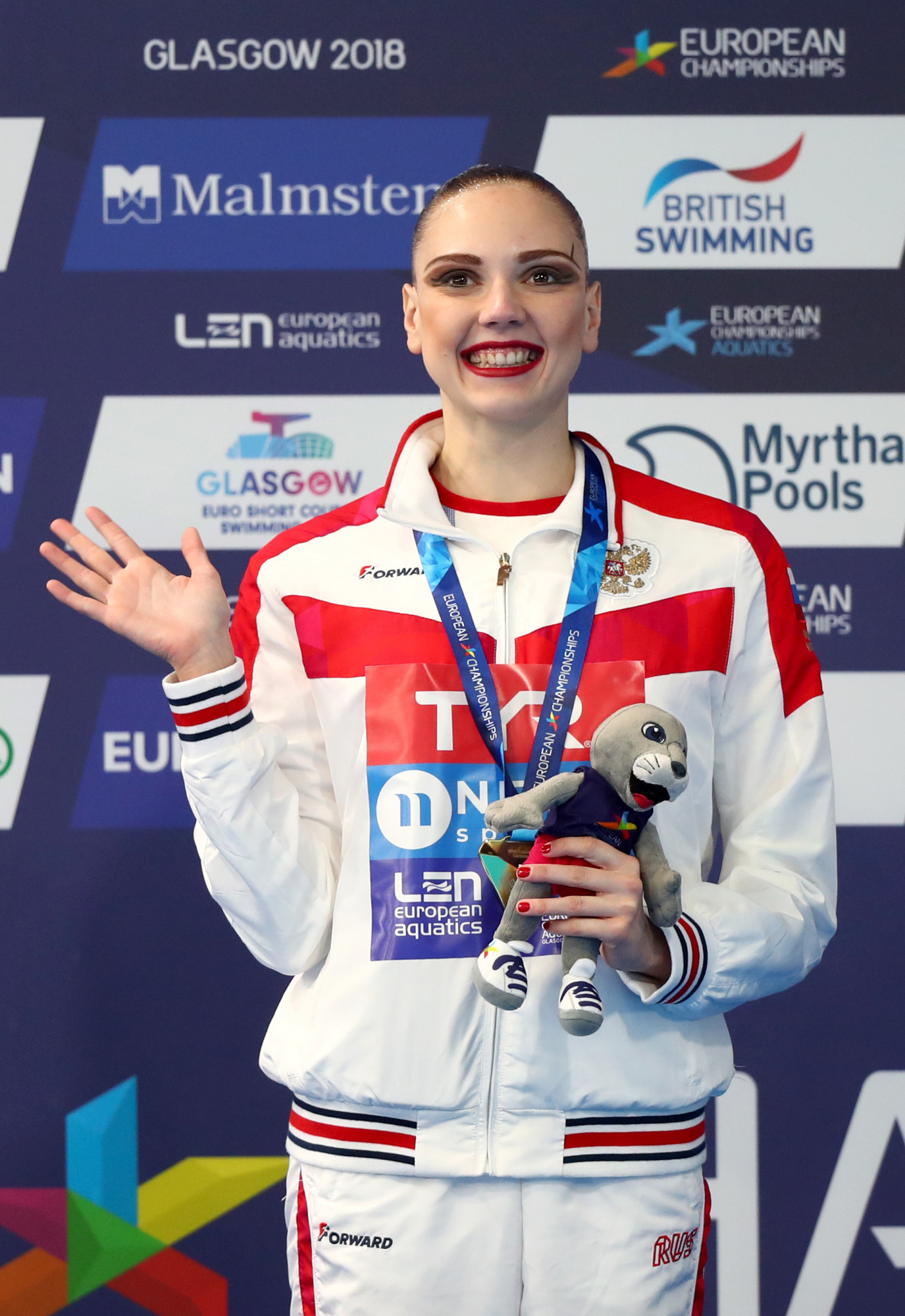 Svetlana Kolesnichenko won her third and fourth golds of the European Championships today, in the duet free and solo free finals ©Getty Images