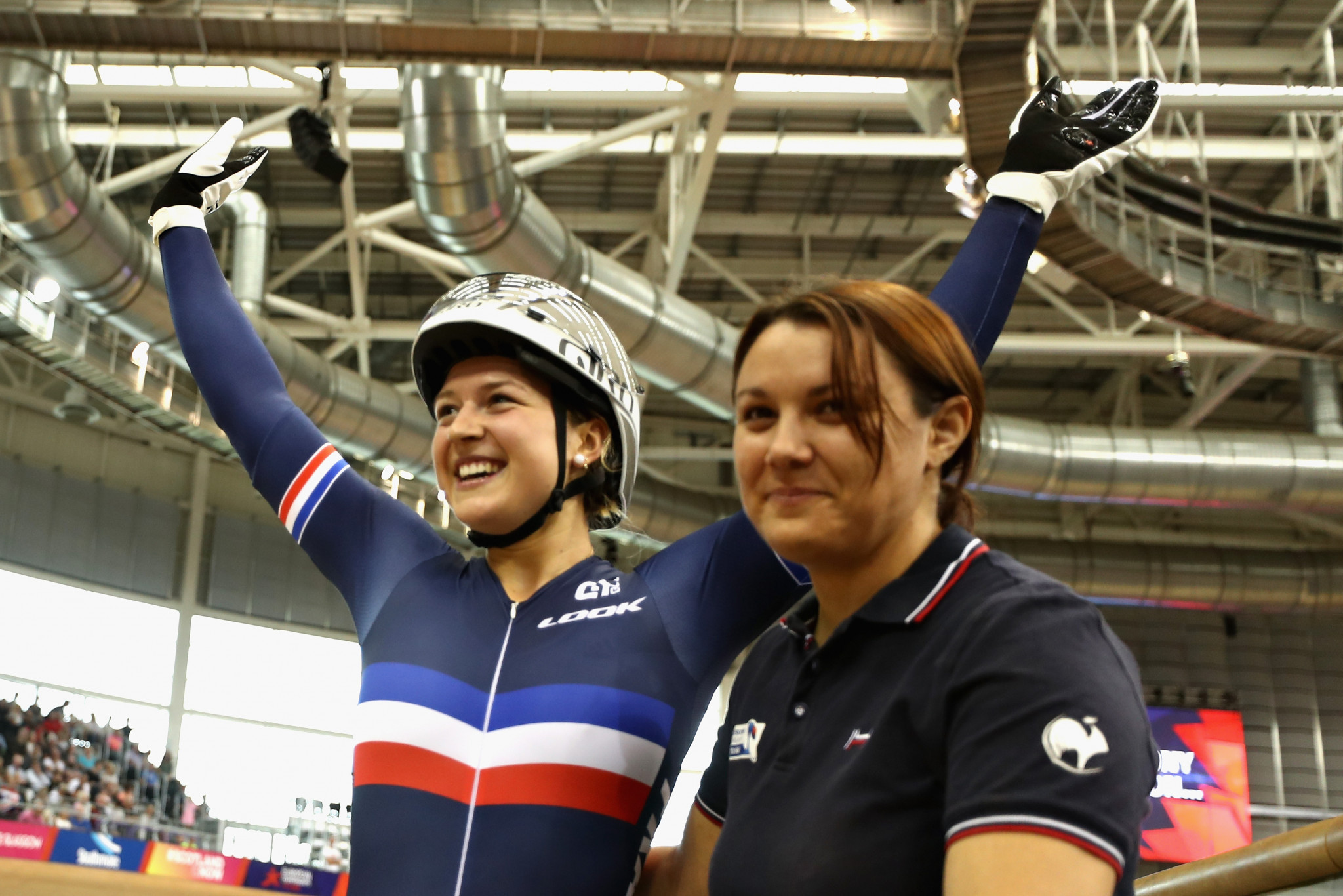 French teenager Mathilde Gros won the women's keirin ©Getty Images
