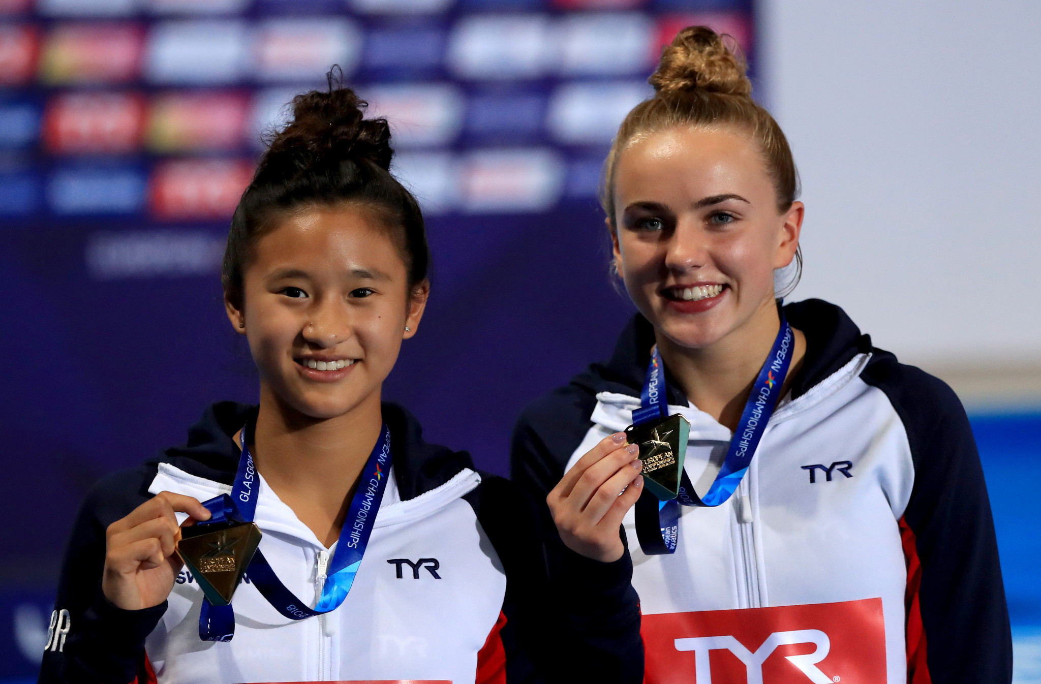 Great Britain won gold in both diving finals today, first the women's synchronised 10m platform final and then the men's 1m springboard final ©Getty Images