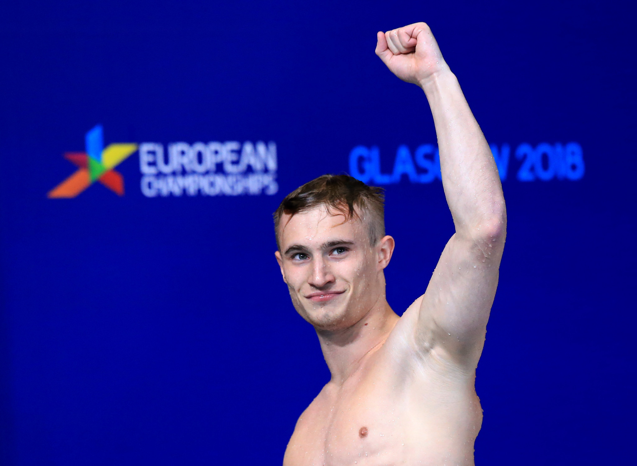 The Olympic champion in the synchronised 3m springboard event Jack Laugher then won gold in the second diving final of the day, the 1m springboard final, with a score of 414.60 ©Getty Images