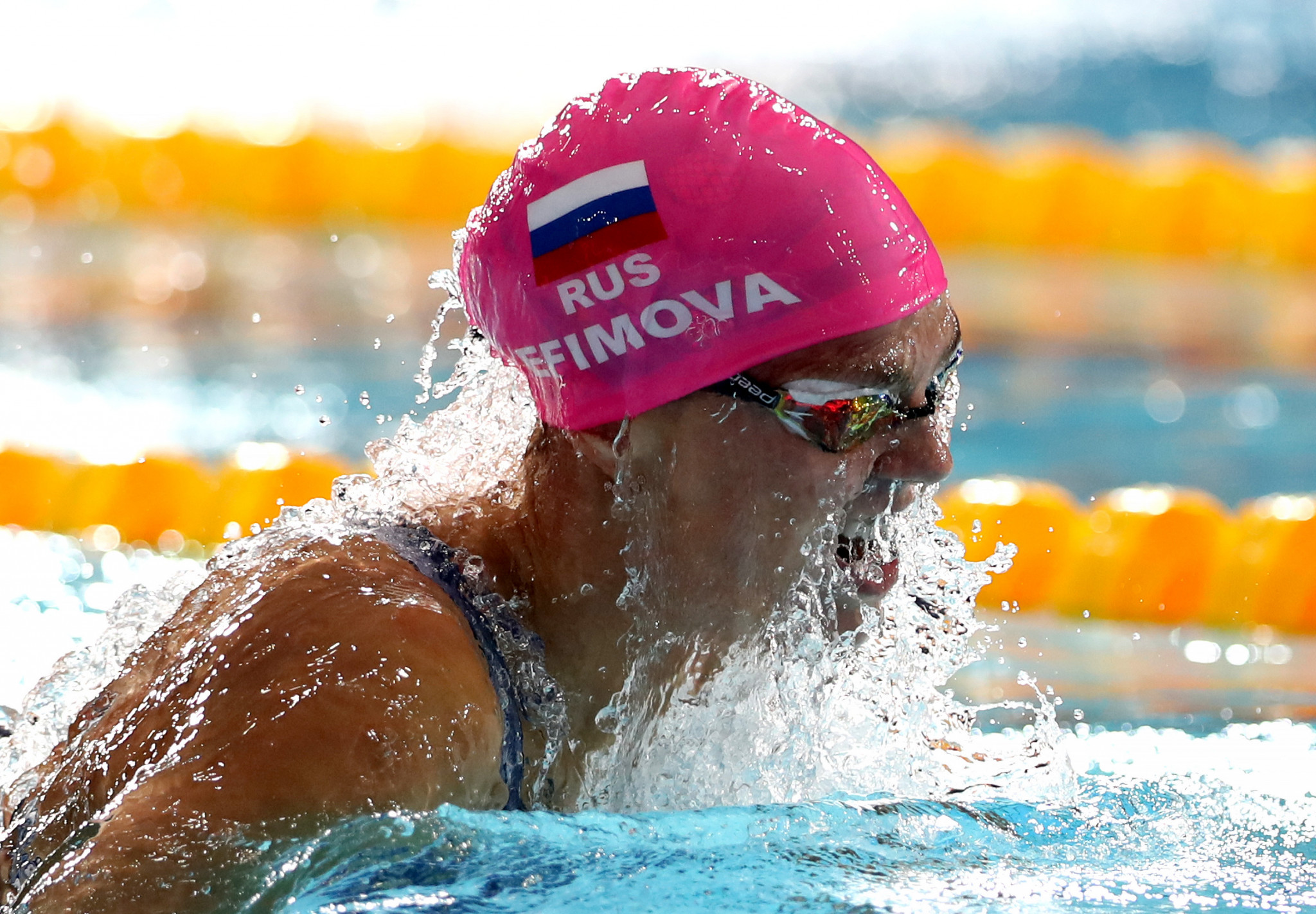 Yuliya Efimova added the 200m breaststroke title to her 100m crown ©Getty Images