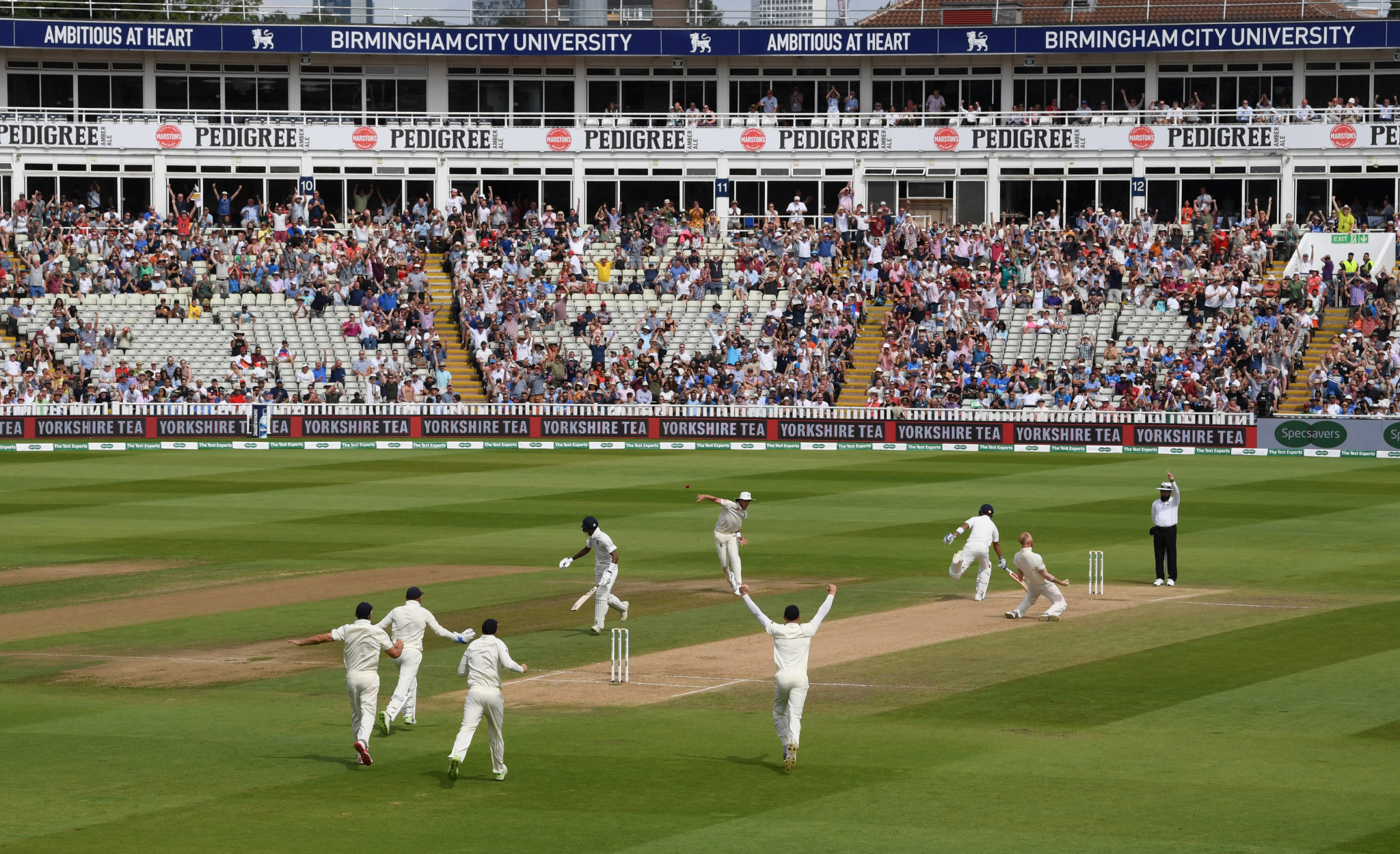England and India played out a thrilling first Test at Edgbaston ©Getty Images