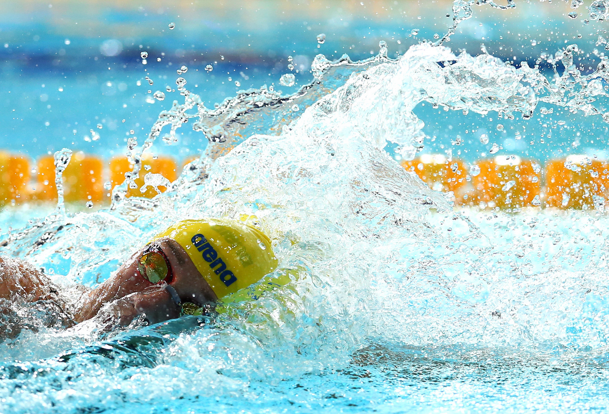 Sweden's Sarah Sjöström powered to victory in the women's 100m freestyle final ©Getty Images