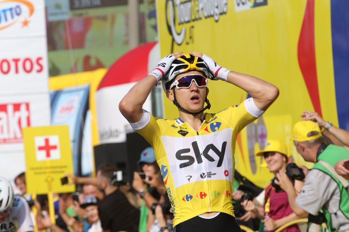 Kwiatkowski sprints to another stage win at Tour of Poland