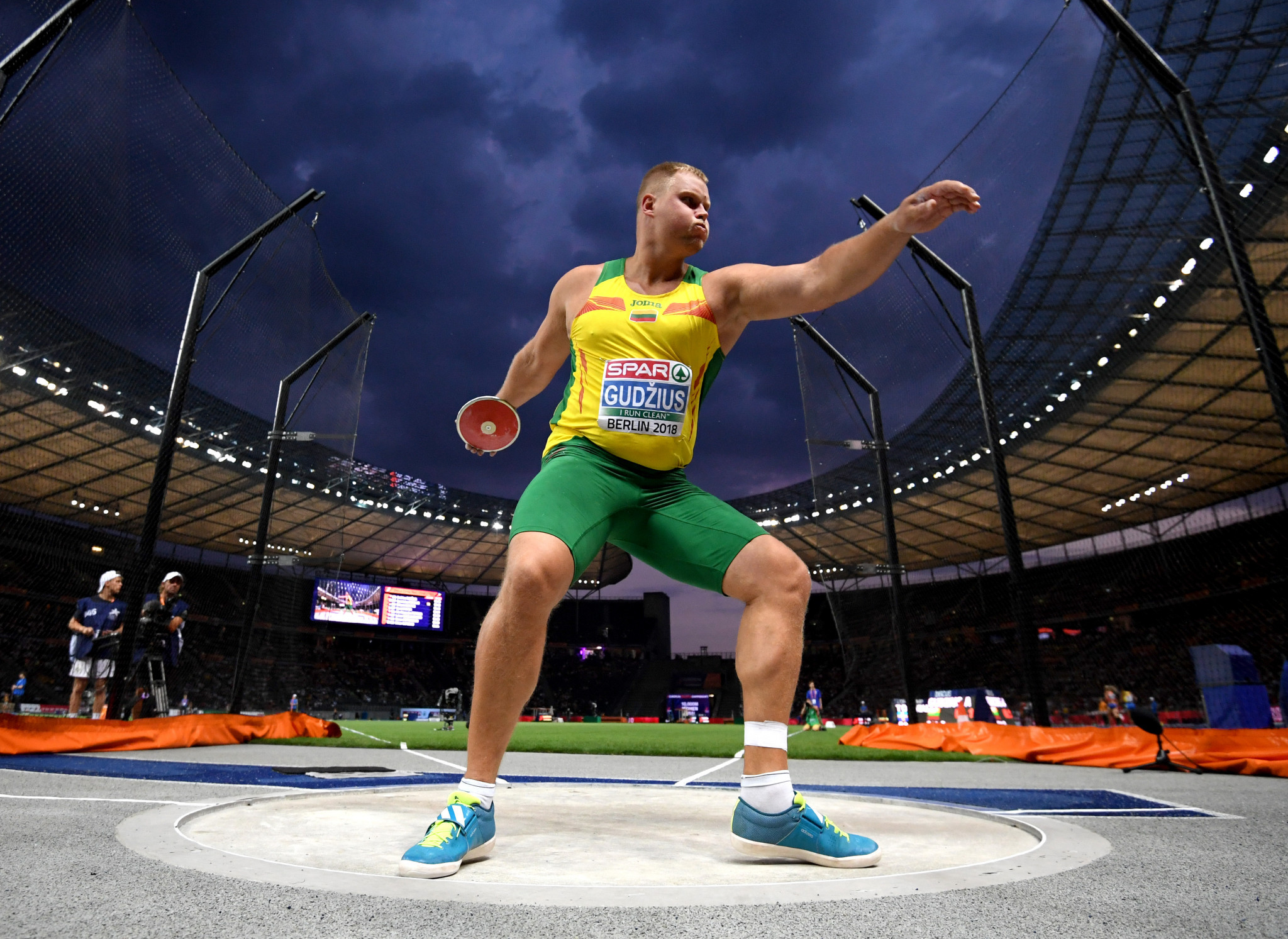 Lithuania's world discus champion Andrius Gudzius won the European title with his final throw ©Getty Images