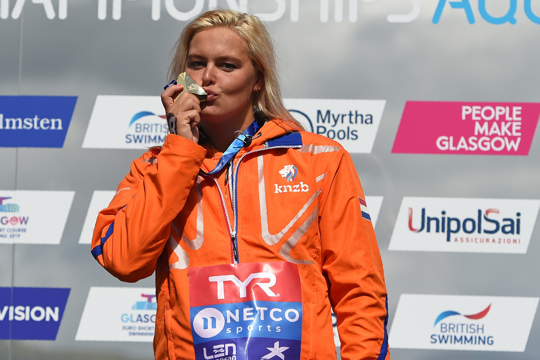 The Netherlands' Sharon van Rouwendaal claimed her second gold medal of the European Championships by winning the 10km open water competition ©Getty Images
