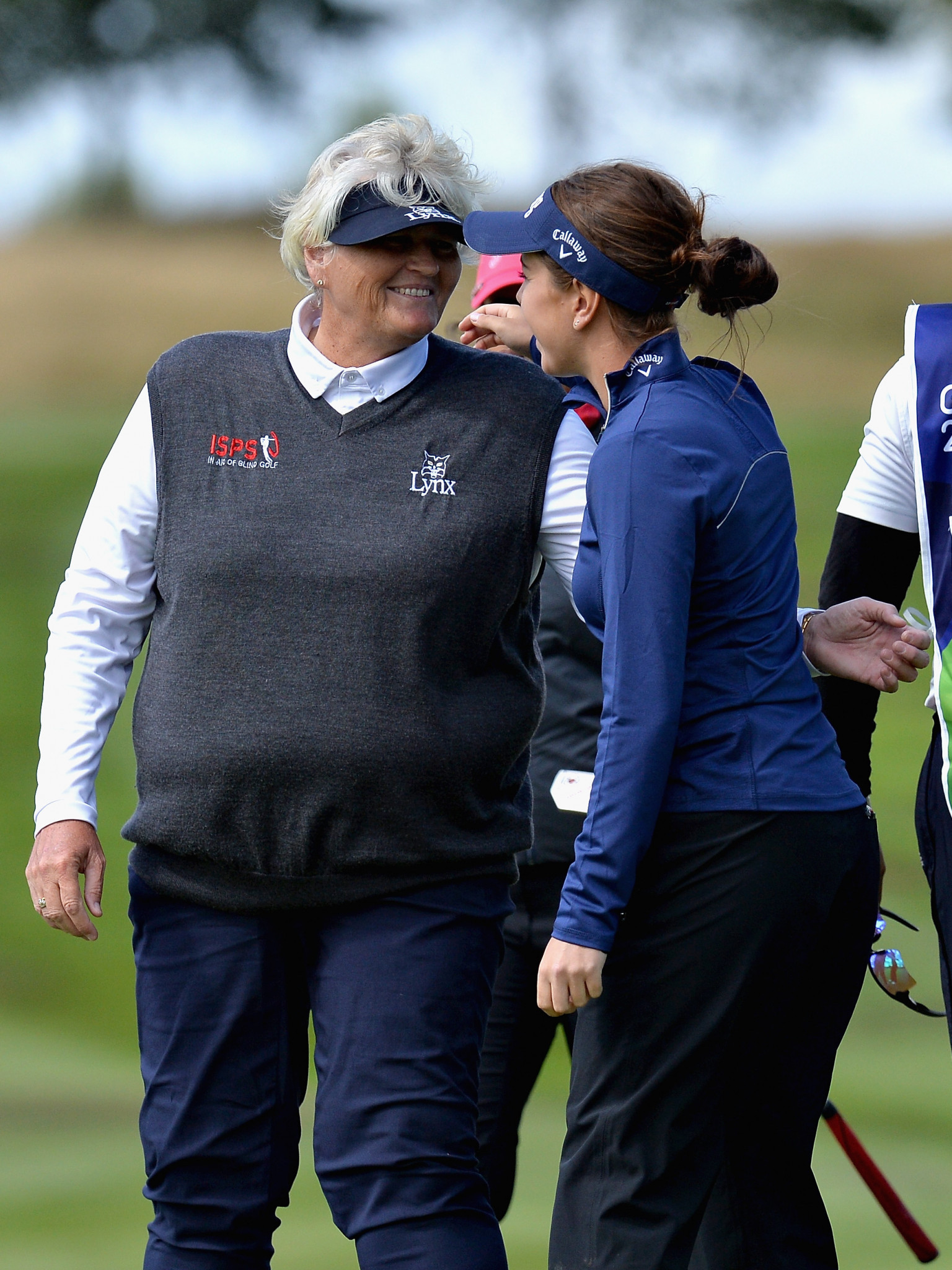 Great Britain's Georgia Hall and Laura Davies are among three British pairs in pole position to make the semi-finals after Day 2 of the European Golf Championships ©Getty Images