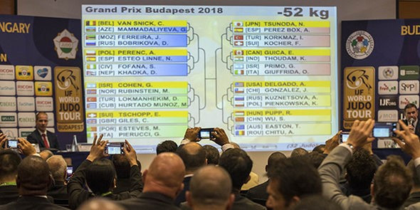 The draw for the IJF Grand Prix in Budapest was conducted today ©IJF