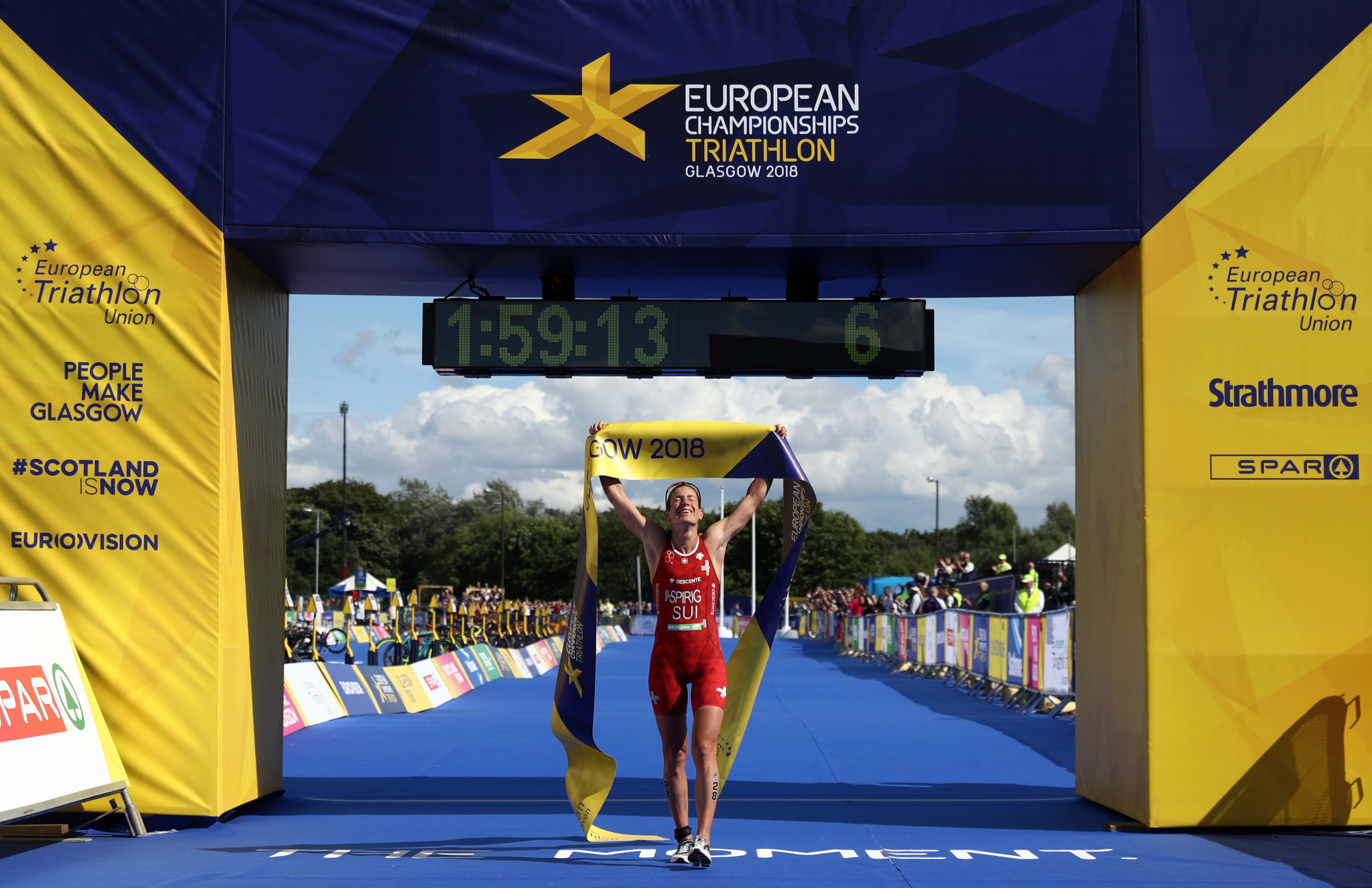 Nicola Spirig won the women's European triathlon title for a sixth time ©Getty Images