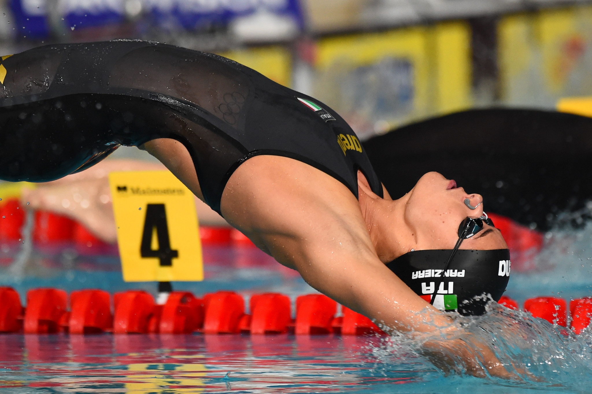 Italy's Margherita Panziera broke a 27-year-old Championship record in the women's 200m backstroke ©Getty Images