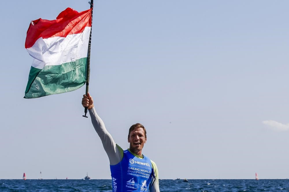 Zsomber Berecz became the first Hungarian to secure a world title in the Finn class at a World Sailing Championships ©World Sailing