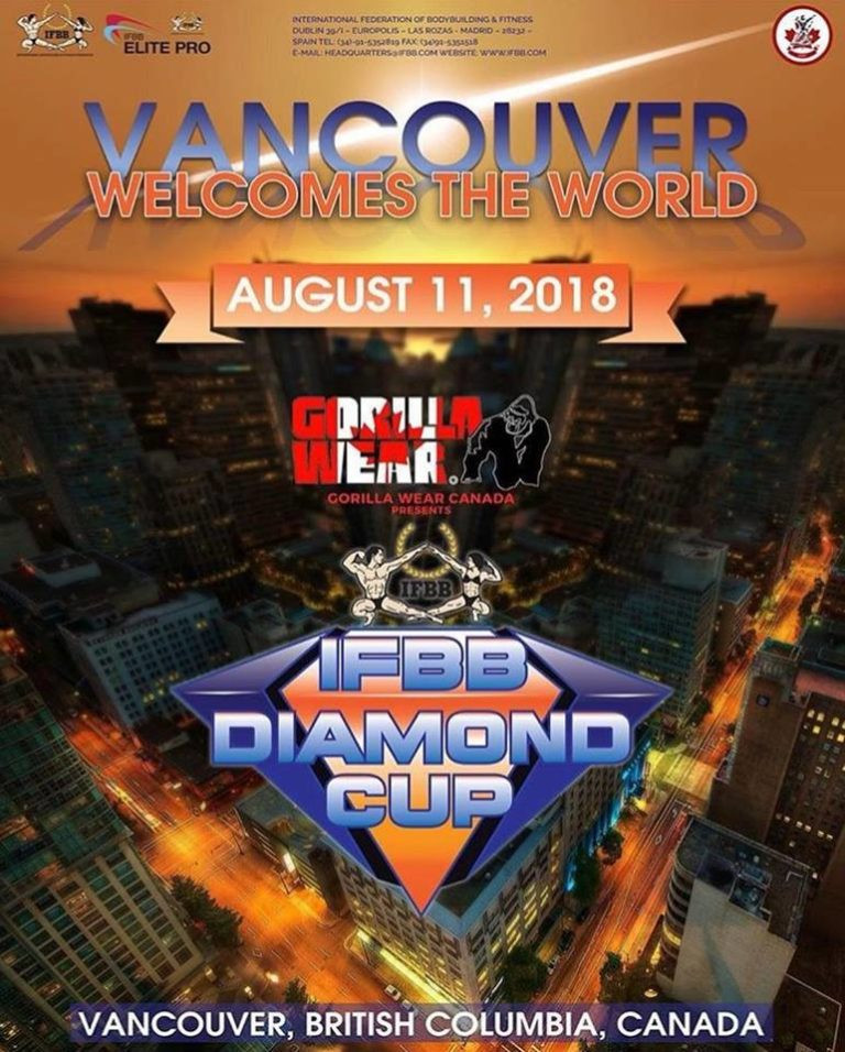 IFBB Diamond Cup campaign to resume in Vancouver