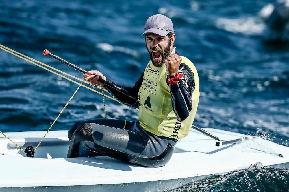 Olympic silver medallist Pavlos Kontides of Cyprus retained his world laser title in a dramatic medal race ©Sailing Energy/World Sailing