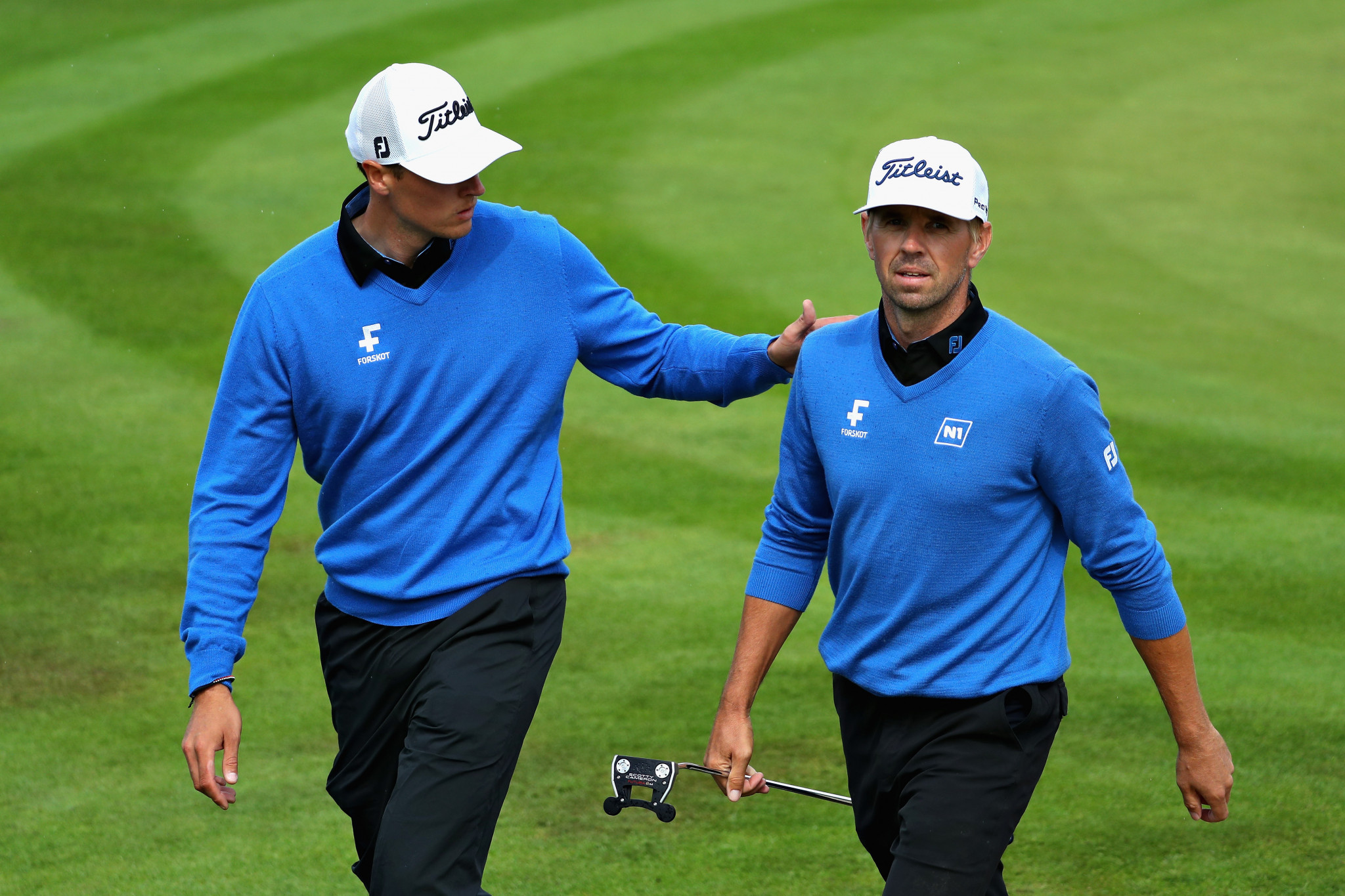 Birgir Hafthorsson and Axel Boasson earned a semi-final spot at the European Golf Team Championships at Gleneagles ©Getty Images