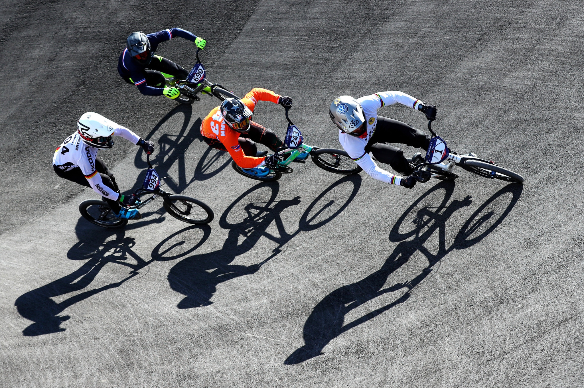 World champion Sylvain André of France cruised through the opening BMX cycling motos round ©Getty Images