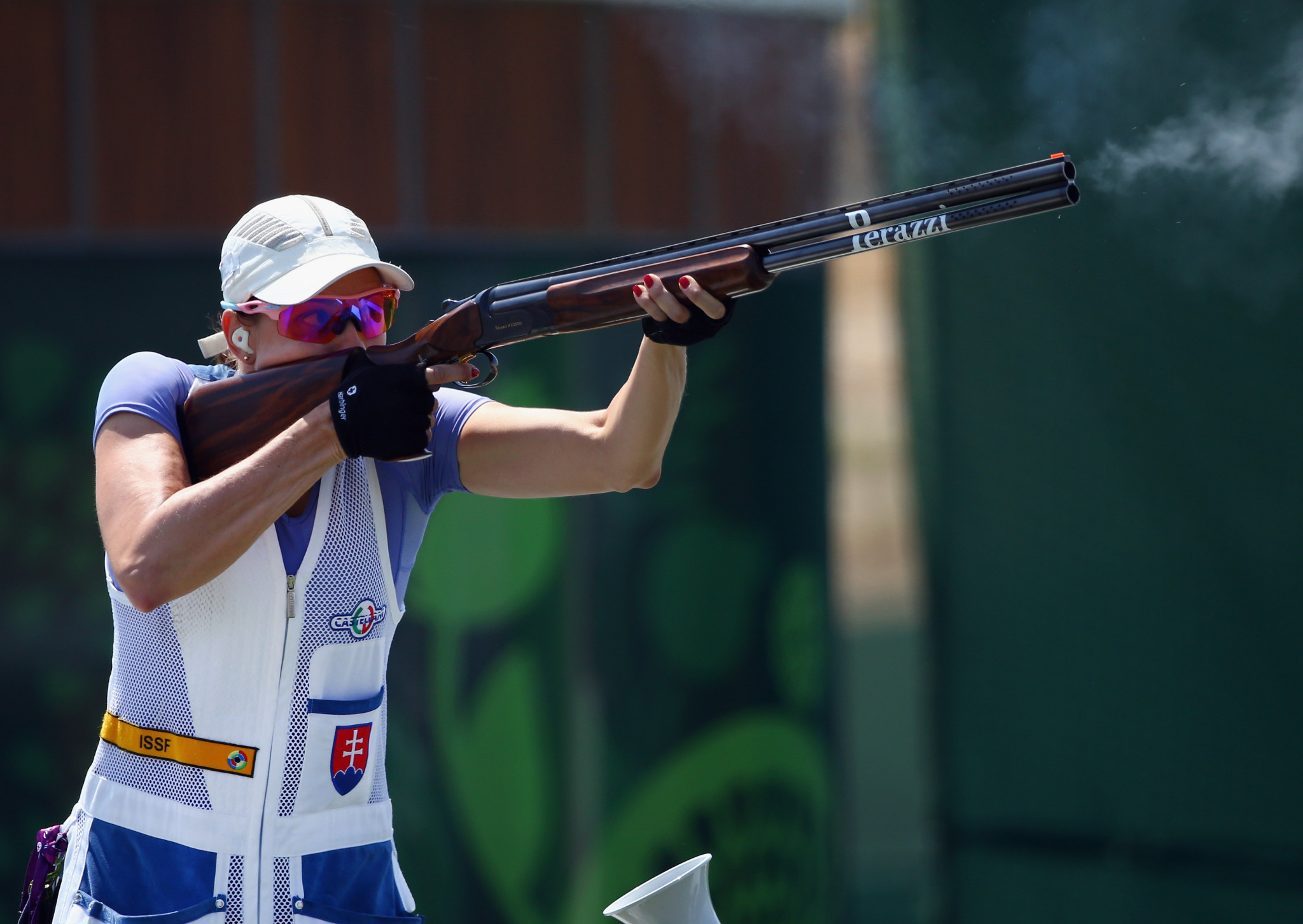 Danka Bartekova claimed the gold in the women's skeet competition at the European Shotgun Championships ©Getty Images
