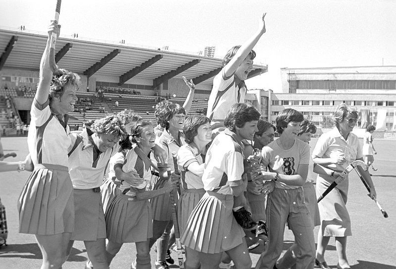 Zimbabwe received a late call-up to the first women's Olympic hockey tournament at Moscow in 1980 following the withdrawal of several teams in protest of the Soviet Union invasion of Afghanistan and won the gold medal ©Wikipedia