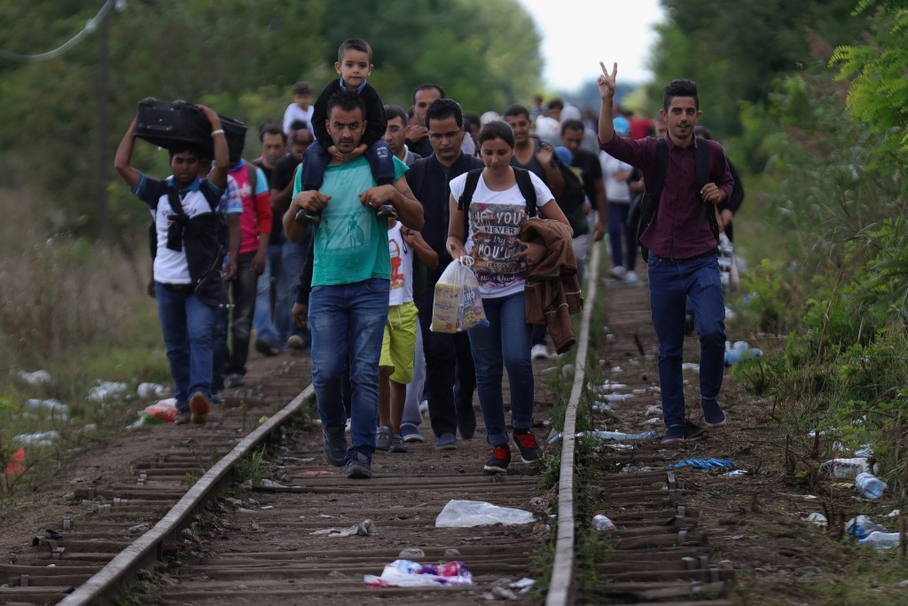 Thousands of migrants from war-torn countries like Syria and Afghanistan have sought entry into Hungary in recent weeks ©Getty Images
