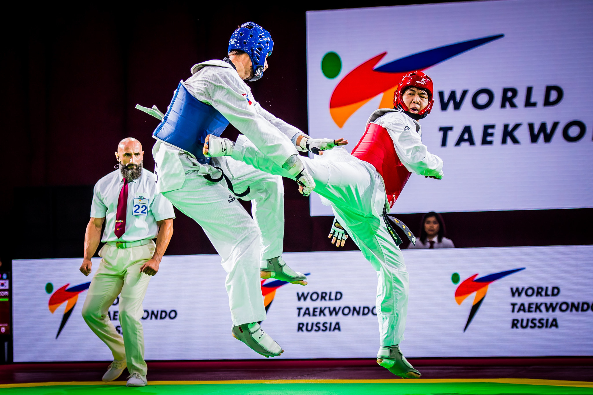 South Korea's In Kyo-don defeated Slovenia's Ivan Konrad Trajkovic in the men's over-80kg gold medal match ©World Taekwondo
