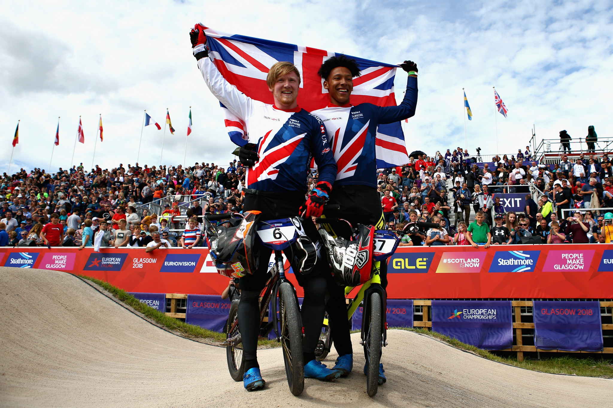 Evans leads British one-two finish in men's BMX event at Glasgow 2018 European Championships