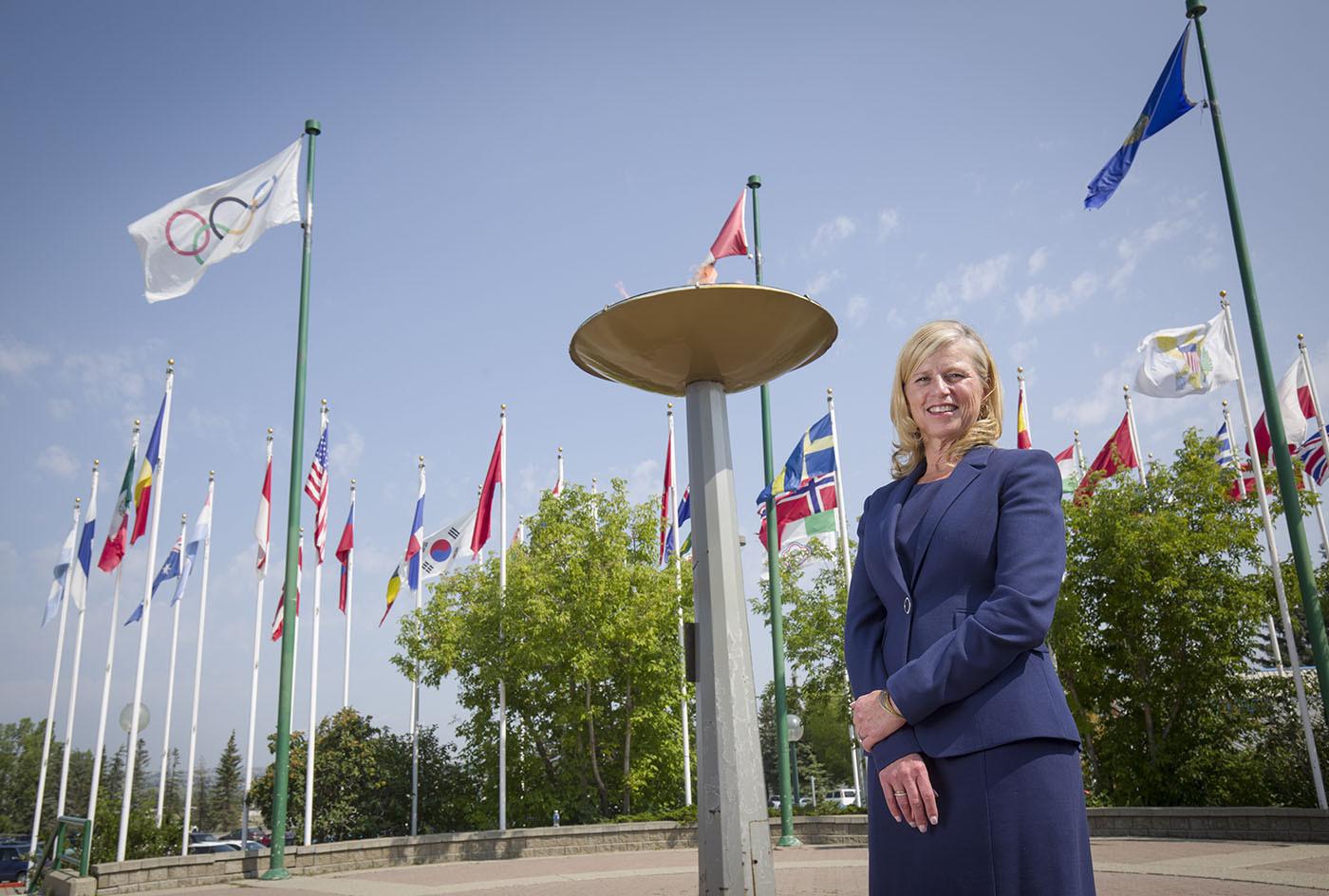 Calgary 2026 chief executive Mary Moran has already been contacted by bid opponents ©Calgary 2026