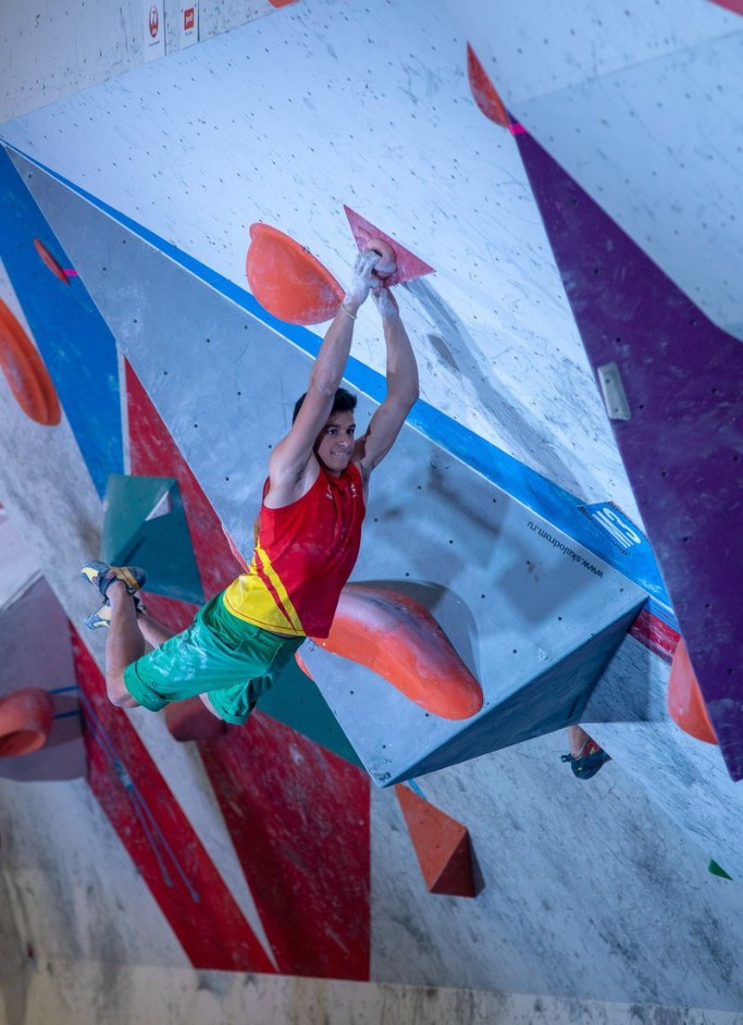Bouldering events took centre stage in Moscow today ©IFSC