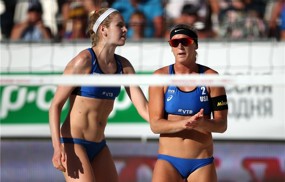 Ross and Hughes make first final together at FIVB Moscow Open