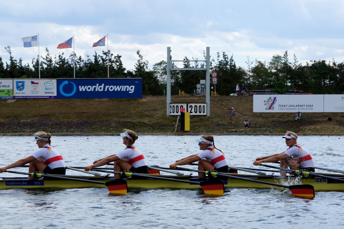 Germany book women's quadruple sculls final place in style at World Junior Rowing Championships