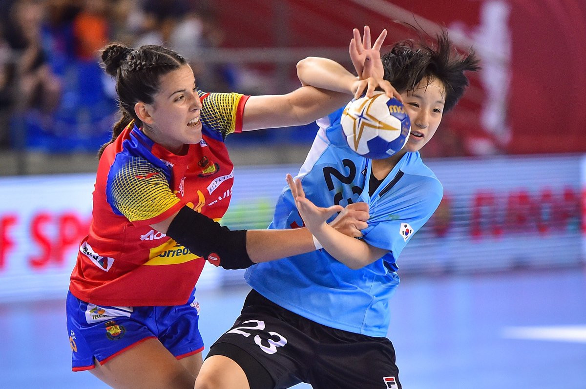 South Korea edged Spain 32-31 in a thrilling Group D contest ©IHF/Twitter