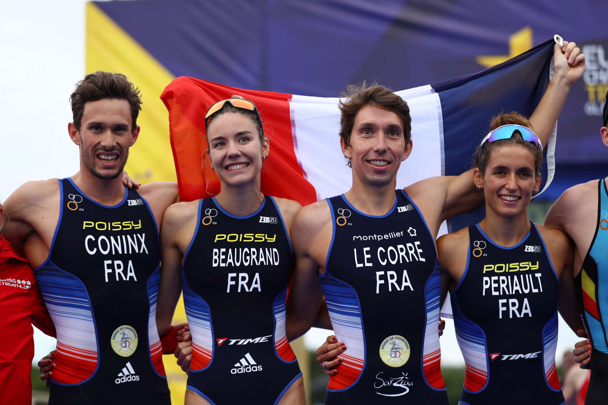 World champions France win mixed team relay triathlon event at Glasgow 2018 European Championships