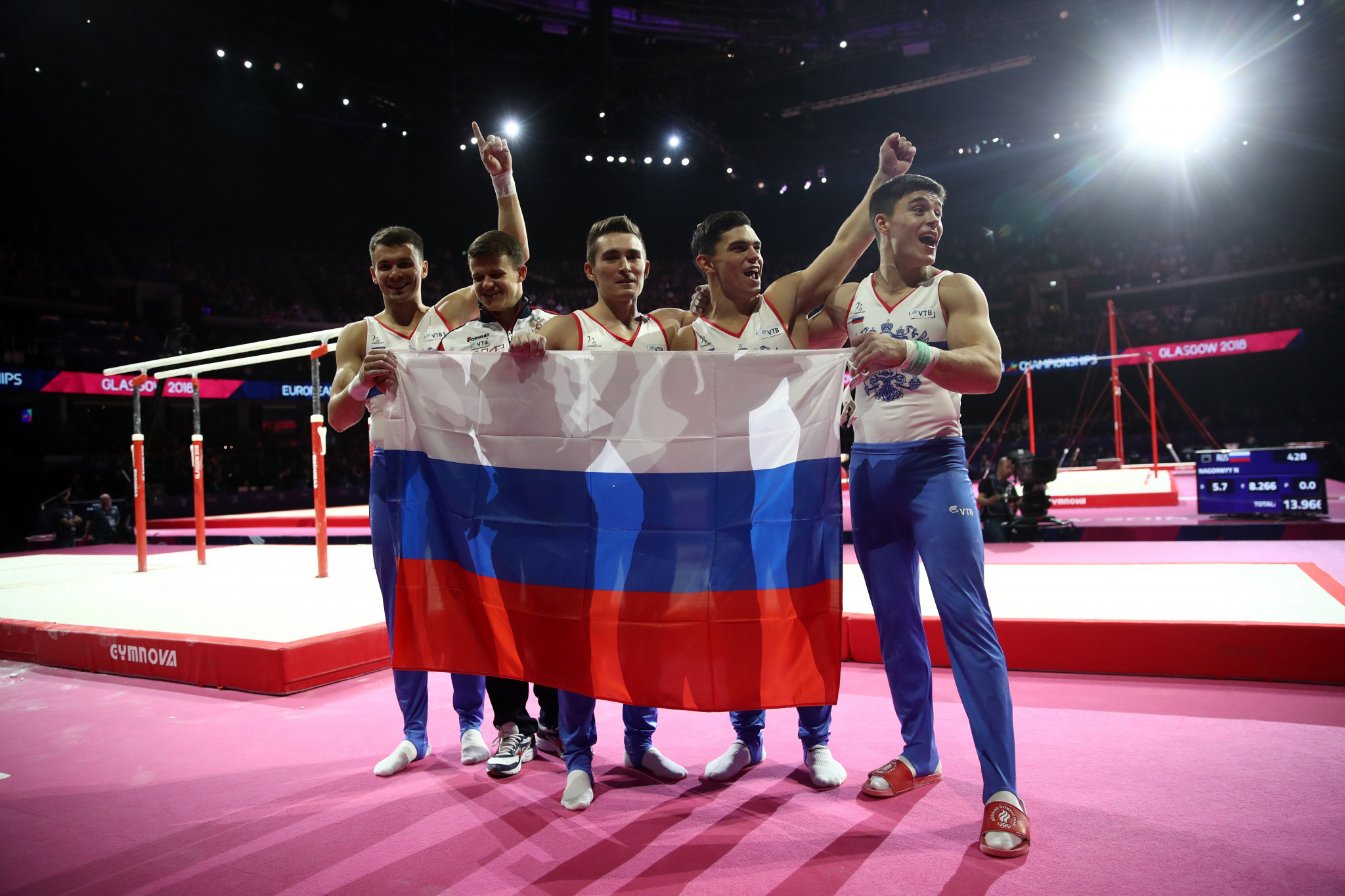 Russia claimed the men's artistic gymnastics team title ©Getty Images