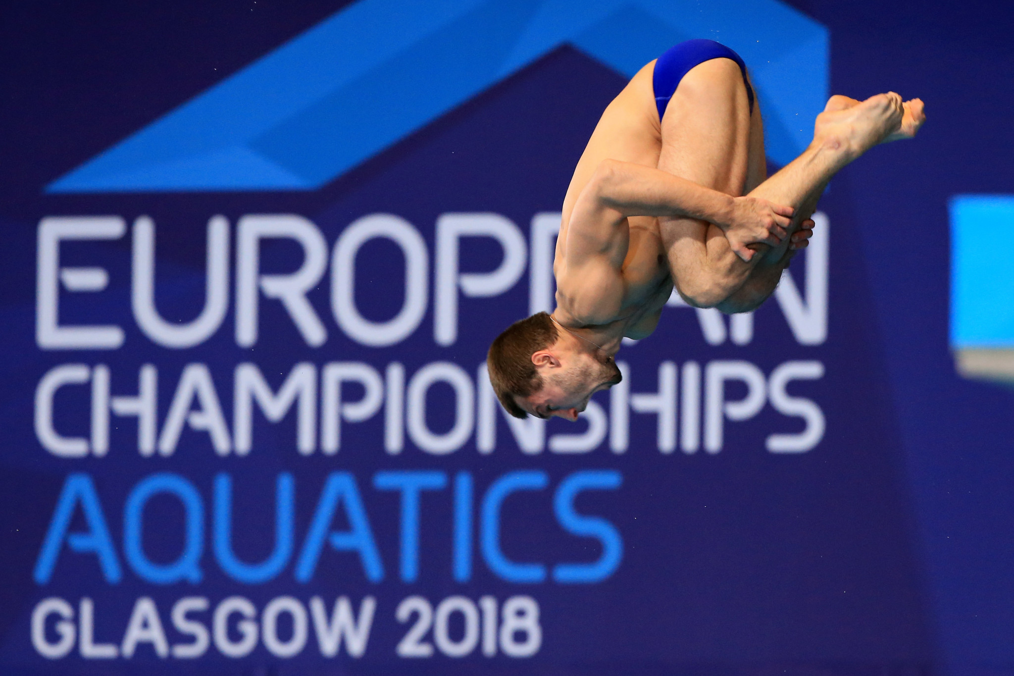 Russia's Aleksandr Bondar reigned supreme to re-capture his men's 10 metres platform crown as diving competition concluded today at the Glasgow 2018 European Championships ©Getty Images