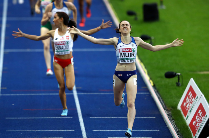Laura Muir's victory in the women's 1500m was one of three golds on the night for a British team that finished top of the medals table at Berlin 2018 ©Getty Images