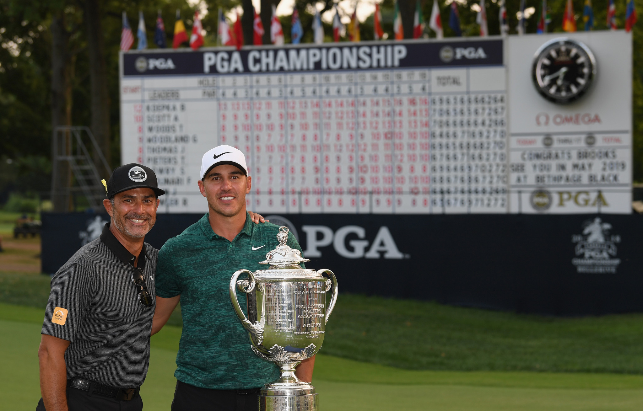 World number four Brooks Koepka has won the US PGA Championship at Bellerive to claim his third major title in 14 months ©Getty Images