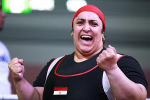 Egypt's Randa Mahmoud finished second in the over-86kg class behind Loveline Obiji ©IPC