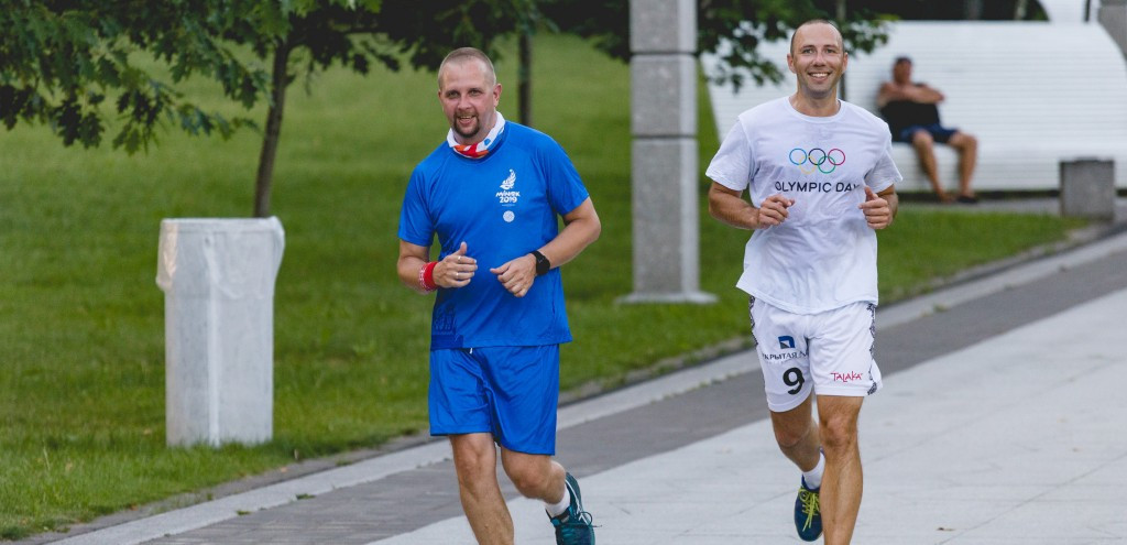The training session took place in Pobedy Park ©Minsk 2019