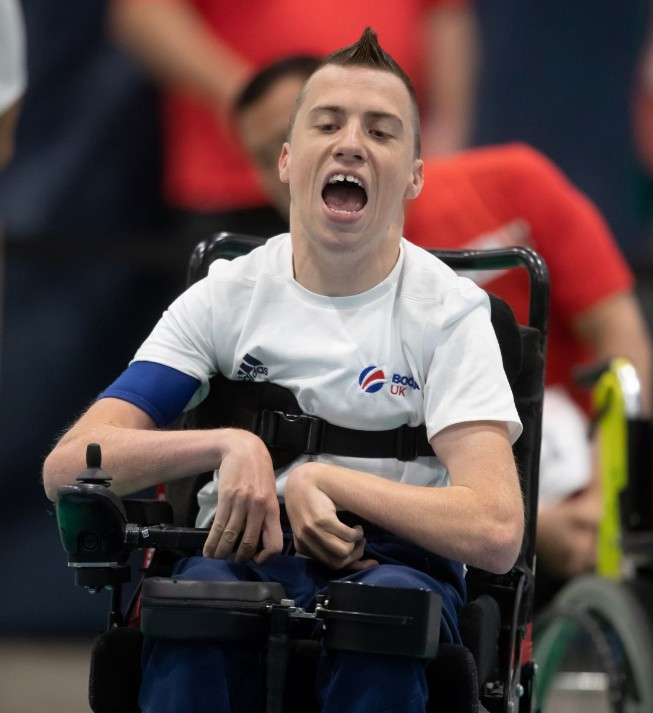 David Smith continued his good form at the showpiece boccia event ©BISFed
