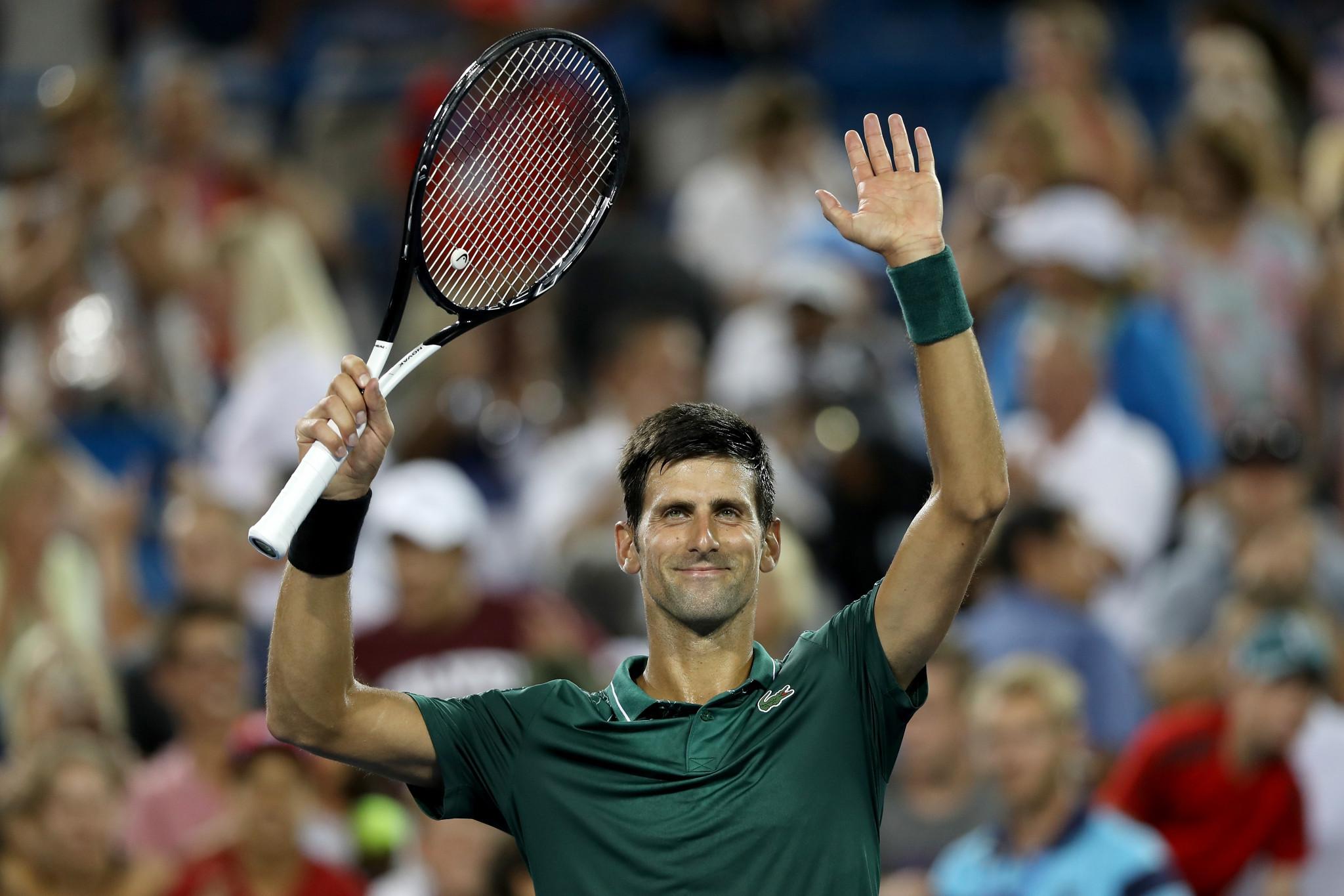 Djokovic and Williams book second round places at Cincinnati Masters