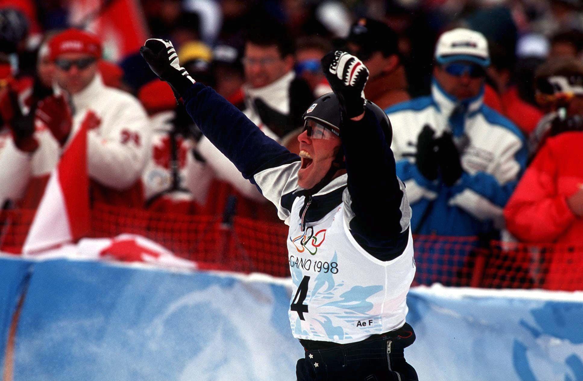 Eric Bergoust won Olympic gold at Nagano 1998 ©Getty Images