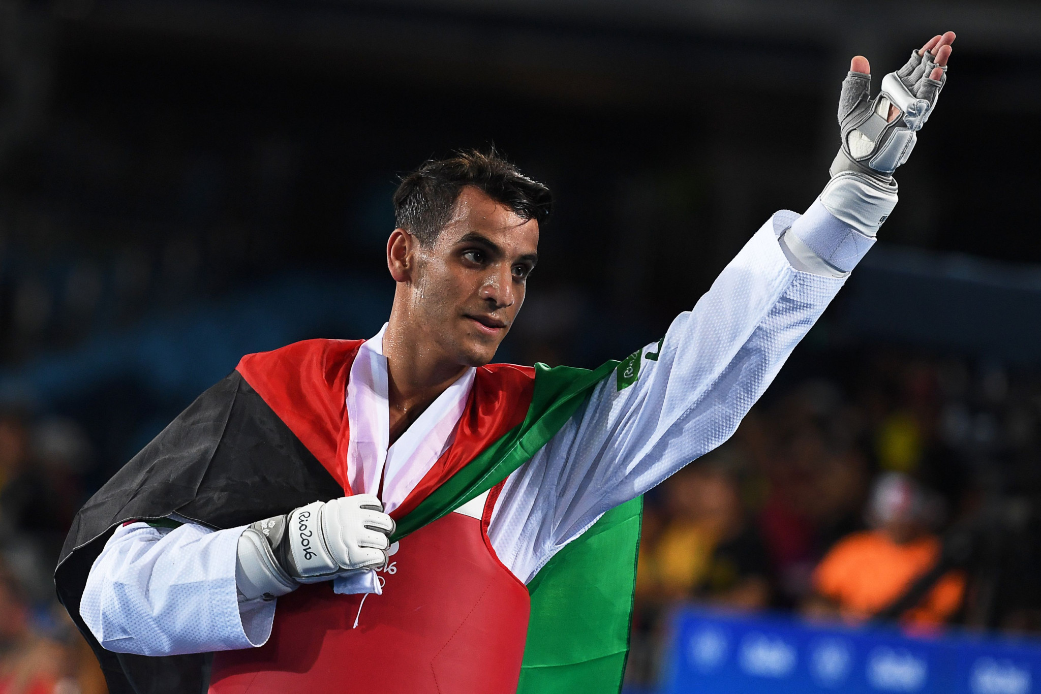 Ahmad Abu Ghaush became Jordan's first Olympic champion at Rio 2016 ©Getty Images