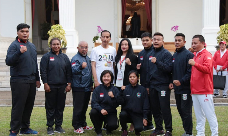 Sambo team among Indonesian athletes to meet President