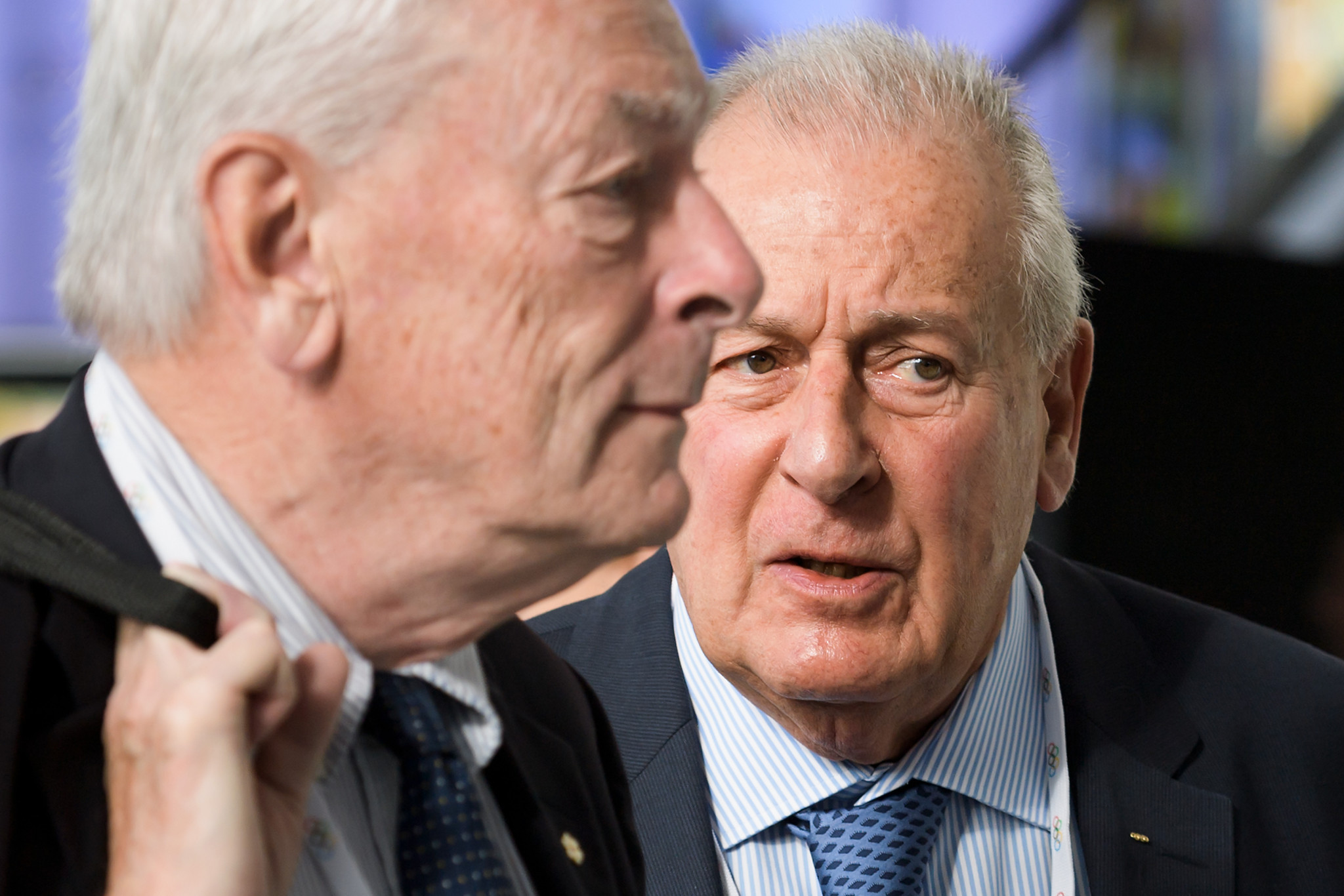 Richard Pound, left, has seemingly been removed from a position on the OBS Board. François Carrard, right, is among its other members ©Getty Images
