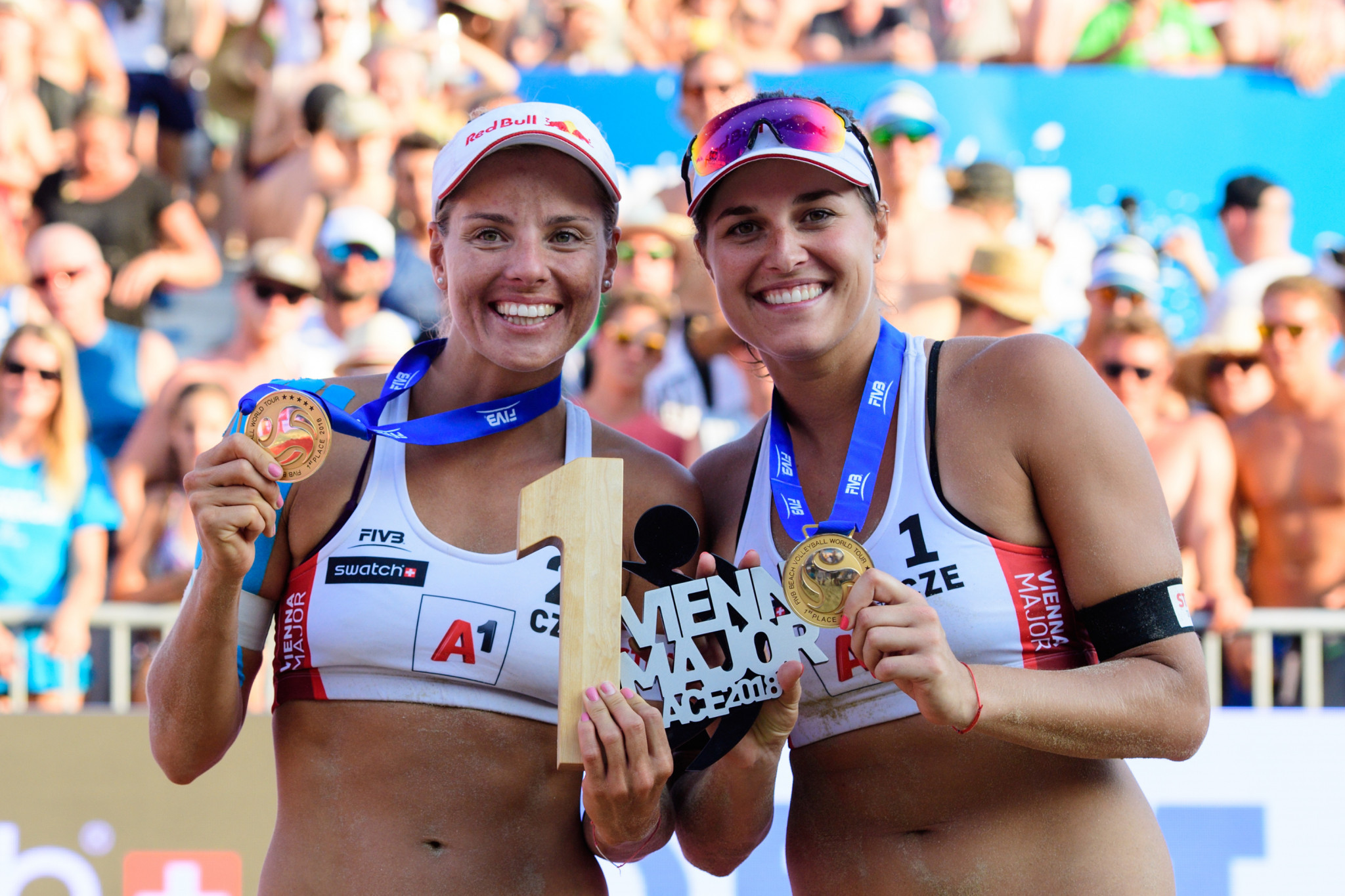 Barbora Hermannova and Markita Slukova of the Czech Republic are the top seeds in the women's event ©FIVB