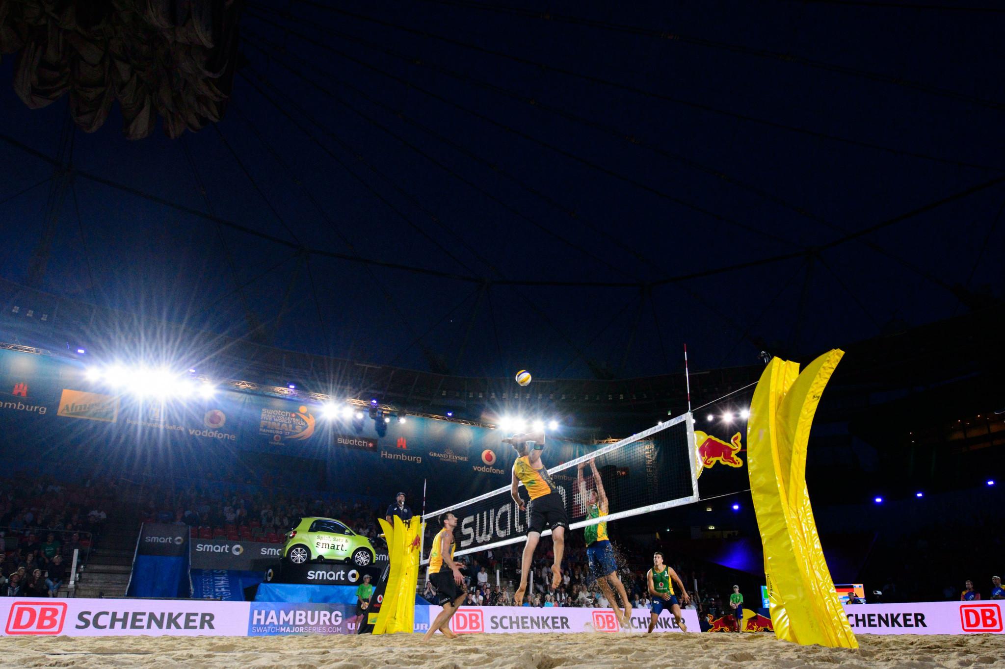 hamburg set for fivb beach volleyball world tour finals. Black Bedroom Furniture Sets. Home Design Ideas